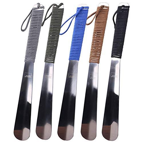 Générique - Calzascarpe in metallo, lunghezza 37,8 cm, in acciaio inossidabile, resistente, con foro di sospensione (dimensioni: 37,8 cm), (37,8cm), 37,8cm