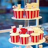 4-Etagen Cupcake Ständer, Tortenständer, Klar Runde Acryl – Hält bis zu 30 Cupcakes! Elegant Desserts Muffin Sushi Halter – Hoch Qualität & Haltbarer für Hochzeit, Geburtstage, Baby-Duschen. - 6