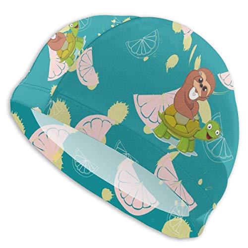 Les Bonnets de Bain Rose Citron pour Hommes et Femmes conviennent également aux garçons et aux Filles.