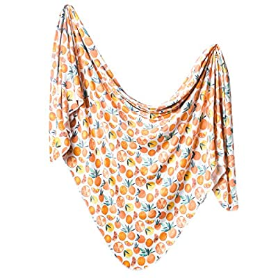 Copper Pearl, Large Premium Knit Baby Swaddle Receiving Blanket, Graphics