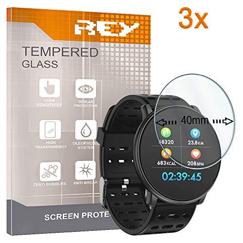 3X Protector Pantalla Universal Reloj 40 MM, Cristal