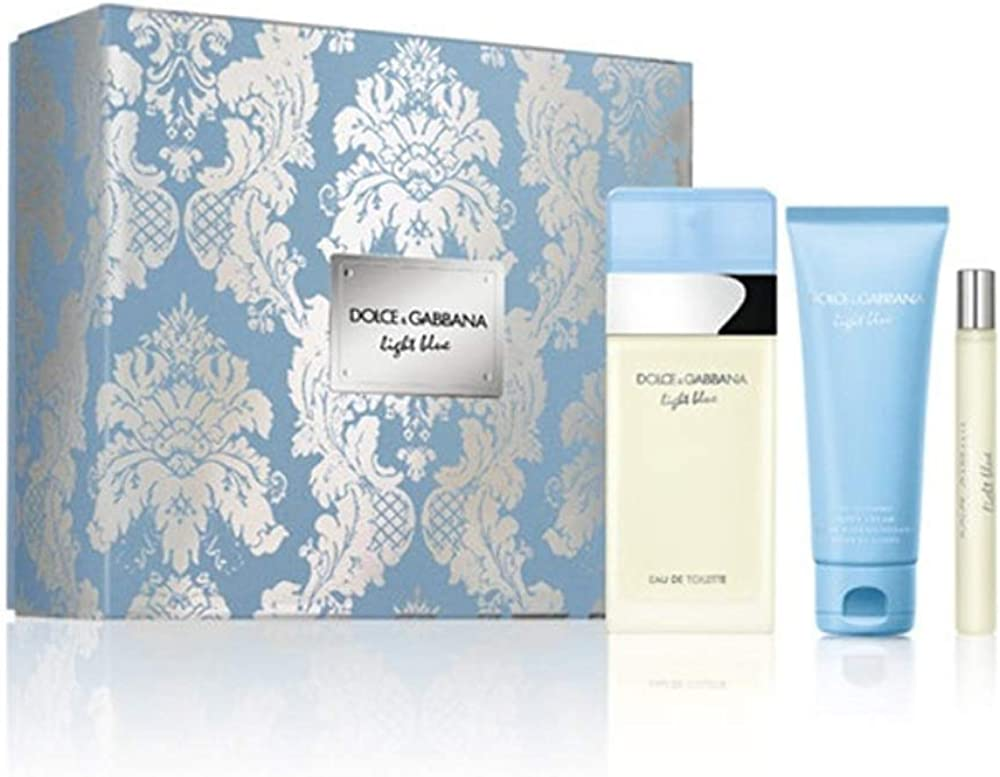 Dolce & gabbana light blue edt 100 ml +mini 10 ml + b/lotion 100 ml set regalo BF-3423478776357_Vendor