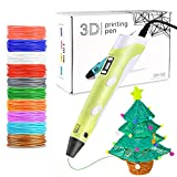 Faburo 3D Penna Stampa con 10 Colori Diversi PLA Fliaments Set, Penna 3D Professionale con Schermo LCD e Controllo della Temperatura, Penne per Stampa 3D è Un Regalo Perfetto per Bambini, Adulti