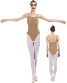iMucci Professional Seamless Nude Camisole Leotard - Undergarment Dancewear for Ballet Dance
