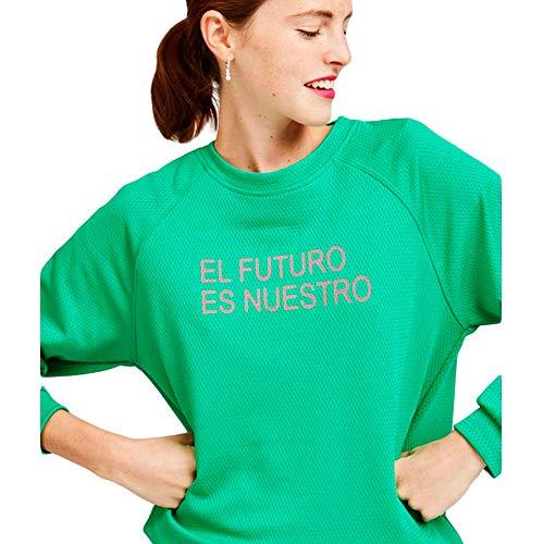 Dolores Promesas PV19 1036VERDE Sudadera, Verde (Verde 00), Small (Tamaño del Fabricante:S) para Mujer