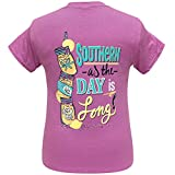 Girlie Girl Originals Southern Long Day Heather Radiant Orchid (Large)