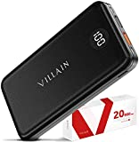 Power Bank Portable Charger Fast Charging Battery Pack 20000mAh Cell Phone External Battery Charger, 20W USB PD 3.0 Type C Output, Qualcomm Quick Charge for Camera, Android, iPhone, iPad, Tablet