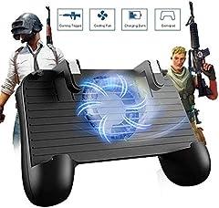 Controlador de Juego móvil para PUBG 5 en 1 versión Mejorada Gamepad Shoot y Aim Trigger Phone Cooling Pad Power Bank para Android y iOS Fortnite/Knives out1