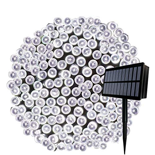 Solar String Lights, 164ft 500 LED Outdoor String Solar Powered Fairy Lights Waterproof 8 Modes Garden Decorative Lights for Tree, Patio, Garden, Yard, Home, Wedding, Party(500 Cool White)