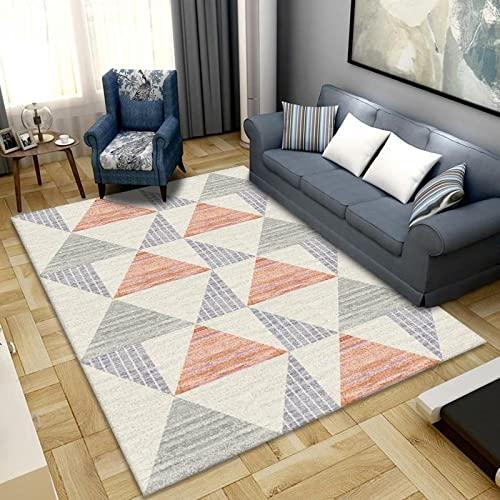 Alfombra de área grande, estilo nórdico, para sala de estar, dormitorio, abstracción, luz de lujo, antideslizante, lavable, alfombra de baño, cocina, alfombra pequeña, 100 x 160 cm