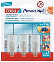 tesa Powerstrips Hooks Small TREND, Chroom, 39.4 x 30 x 26.7 cm