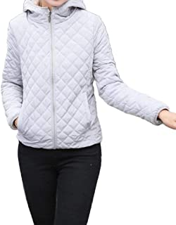 Howely Women Hood Thickened Short Lightweight Plus Size Wadded Jacket