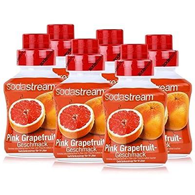 SODASTREAM FRUCHTGESCHMACK 6x Pink Grapefruit Geschmack, 375ml