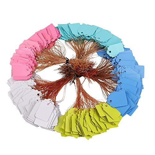 Etichette per Piante Impermeabile Etichette di Giardinaggio in Plastica Riutilizzabile Cartellini per Piante Multicolori Targhette per Piante con Cordino 500 Pezzi (5 Colori / 3,5 x 2,5 cm)