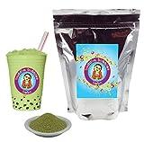 Matcha Green Tea Latte Boba / Bubble Tea Drink Mix Powder By Buddha Bubbles Boba 10 Ounces (283 Grams)