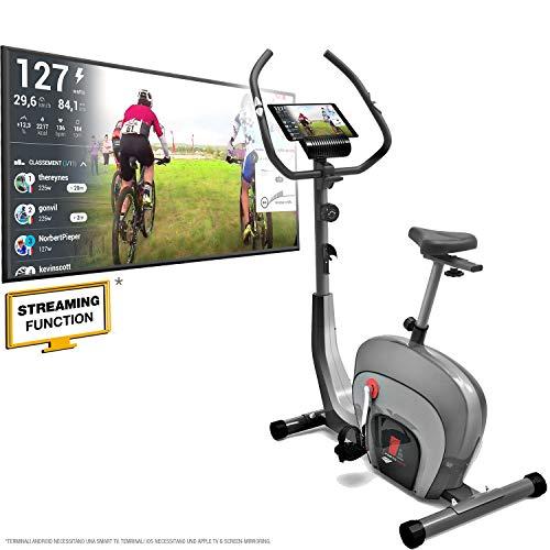 Sportstech ESX550 Premium Design 2020 Ergometro | Marchio Di Qualità Tedesca | Eventi Video E App Multiutente | Freno Magnetico + 21Kg Inerzia | Fitness Bike Esercizio Indoor Silenzioso (ESX550_Nero)