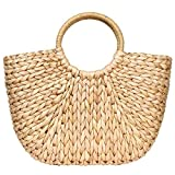 Best Beach Bags - Summer Rattan Bag for Women Straw Hand-woven Top-handle Review