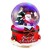 Betteros Décoration De Noël Boule À Neige Musicale Boules À Neige Lumineuses Déco Père Noël Cadeau De Noel pour Enfants