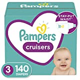 Diapers Size 3, 140 Count - Pampers Cruisers Disposable Baby Diapers, Enormous Pack (Packaging May Vary)