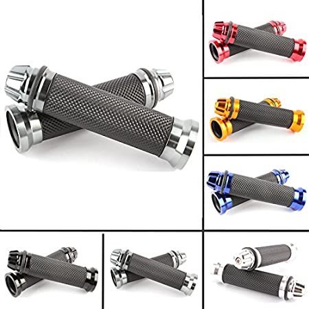 Handlebar Handle bars Grips Motorcycle with Bar Ends Caps Plugs Red Universal Aluminum Rubber 7//8 22mm for Honda CRF CR XR CB CBR 85 110 125 150 230 250 400 600 650 Dirt Pit Bike Enduro