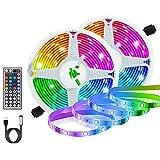 Tiras LED RGB 6m, AUELEK USB Tiras LED 360 LEDs 5050 Tira LED Exterior con 20 Colores/ 6 Modos/Impermeable IP65/ Control Remoto para TV, Techo, Jardín, Casa, Bar, Fiesta, Navidad, Bodas (2x3M)