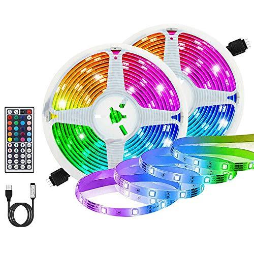 Tiras LED RGB 6m, AUELEK USB Tiras LED 360 LEDs 5050 Tira LED Exterior con...