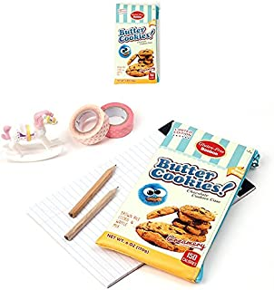 Snack Package Pencil Case Multi Pouch Bag : Sweet Honey Butter/Chocolate Cookie (BUTTER COOKIE)