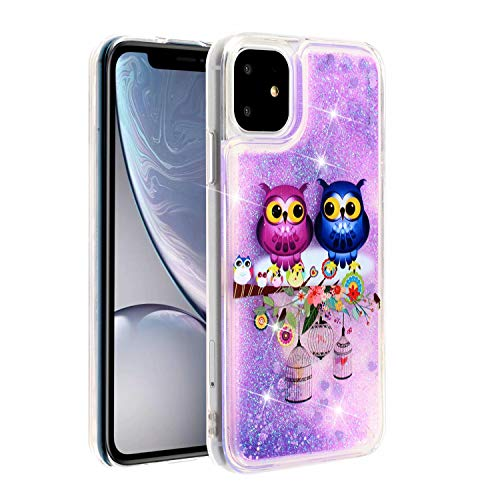KSHOP Glitter Hoesje voor iPhone SE/5/5S, Couple bird, iPhone 11 Pro 2019