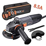 TACKLIFE Angle Grinders 4-1/2-Inch 8.5Amp (1020W) 12000RPM with Anti-Vibration Handle, 1 Grinding Wheel,1