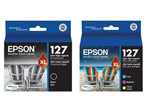Epson 127 Extra High Capacity Ink Cartridge Complete Color Set