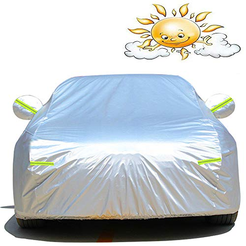 YU-CZ0 Outdoor Staub Car Cover Hochleistungs-wasserdicht Auto-Abdeckung Kompatibel mit Bentley,Weiß,GT Speed