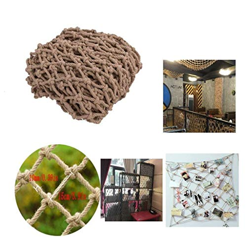 NMDD protection net Hemp Rope Decoration Net Ceiling Divider Net Hanging Clothes Network Photo Wall Net Children's Stairs Safety Fence Net Multi-functional Hand-woven (Size : 2 * 2m)