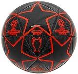 adidas Champions League 19 Balón de Fútbol, Hombre (Negro/Rojo/Final Champions League Madrid 2019) Tamaño 5
