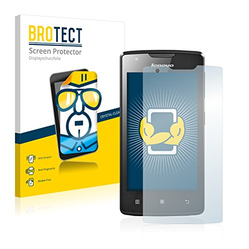 BROTECT Schutzfolie kompatibel mit Lenovo A1000 (Smartphone) (2 Stück) klare Bildschirmschutz-Folie