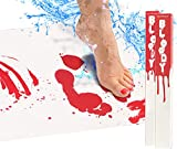 Bloody Bath Mat - Bleeding Bathroom Mat, Color Changing When Wet Horror Gift Set - Includes 1 Large and 1 Regular Size (2 Sheets Total)
