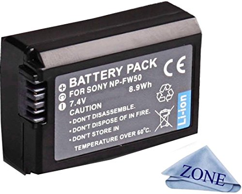 NP-FW50 Replacement Batteries for Sony DSC-RX10 IV, DSC-RX10 III, DSC-RX10 II, DSC-RX10, Alpha 7, Alpha 7R, a7, a7R, a7R II, a7S, a7S II, a3000, a5000, a5100, a6000, a6300, a6500 Cameras -  Accessory Zone, NP-FW50BATT