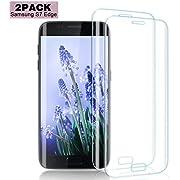 Nutmix Galaxy S7 Edge Panzerglas Schutzfolie [2 stück], HD Displayschutzfolie, Ultra-Klar, 9H Härte, Anti-Kratzer, Einfache blasenfreie Installation, für Samsung Galaxy S7 Edge