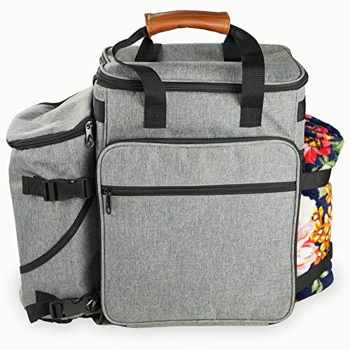 Sunnyushine Haustier-Reisetasche Mit Multifunktionalen Taschen, Lebensmittelbehälter-Tasche Und Faltbarem Napf,für Reisen, Wandern, Outdoor-Aktivitäten