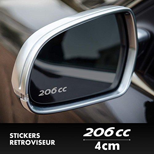 SUPERSTICKI 2X Peugeot 206 CC Spiegelaufkleber Milchglasfolie Frostfolie. Aufkleber ohne Hintergrund Hochleistu