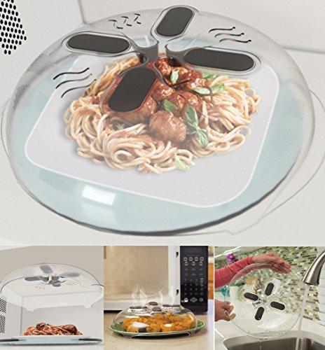 Hover Cover, magnetische Mikrowellen-Abdeckung zum Erwärmen von Speisen, keine Spritzer, mit Schlitzen zum Entweichen von Dampf, Abdeckung für Schneidebretter, 30 cm 1-pack