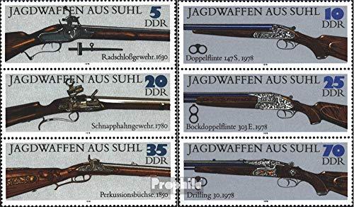 Prophila Collection DDR SZd169,SZd175 (kompl.Ausg.) 1978 Jagdwaffen aus Suhl (Briefmarken für Sammler) Militär