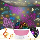 Night Light for Kids,Unicorn Gifts for Girls,Star Projector Gifts for Teenage Girls with Music 2 in 1 Popular Cool Toys Christmas Xmas Birthday Gifts for Girls Age 3 4 5 6 7 8 9Year Olds Baby Girls