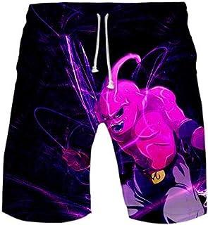 WANHONGYUE Anime Dragon Ball Z Goku Mens Beach Shorts Swim Trunks 3D Print Summer Board Short Pants
