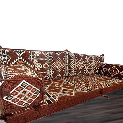 Oriente Medio Tribal muebles suelo Majlis, árabe, Árabe Jalsa, suelo asiento sofá, cojines, Oriental, sala de estar decoración, Kilim de suelo asiento, pipa de barra muebles sofá Set, suelo sofá cama