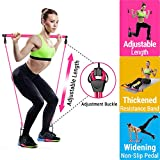 Upgraded Pilates Bar Kit with Adjustable Length Resistance Band, Portable Pilates Exercise Stick...
