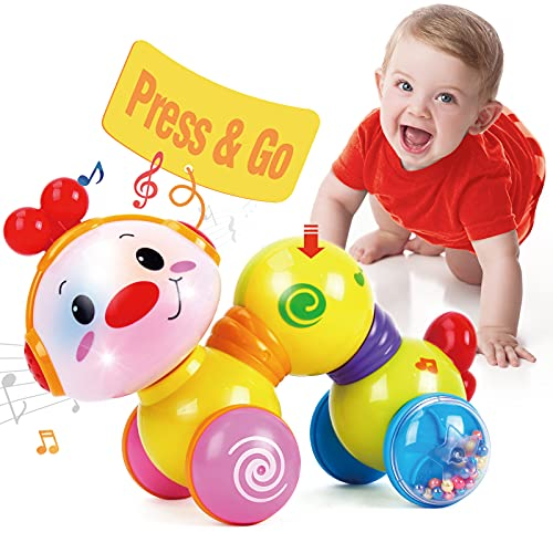 CubicFun Baby Toys 6 to 12 Months Musical Press and Go Inchworm Toy...