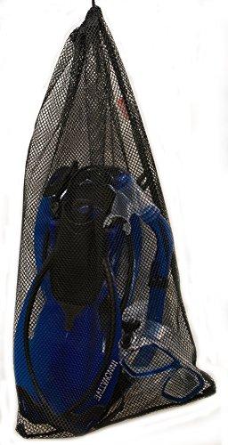 Innovative Scuba Concepts MSF4612 REEF, Adult Snorkel Set, Mask, Fins, Snorkel and Bag, Black, Large/Extra Large