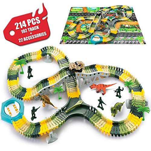 pas cher un bon Jouet électrique flexible de voiture de dinosaure de SYOSIN, jouet d'empreinte de dinosaure pour des cadeaux…