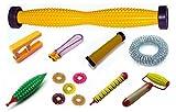 Acupressure Health (9in1) Kit - Plastic Refleology Foot Massager, Body Roller, Plastic Karela, Finger Massager, Magnetic Jimmy, Bracelet, Sujok Rings, Soft Roller