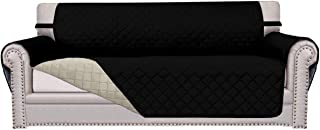 Best Easy-Going Sofa Slipcover Reversible Sofa Cover Water Resistant Couch Cover Furniture Protector with Elastic Straps for Pets Kids Children Dog Cat(Oversized Sofa,Black/Beige) Review